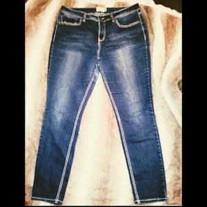 Royalty for me cropped plus size jeans. Size 16